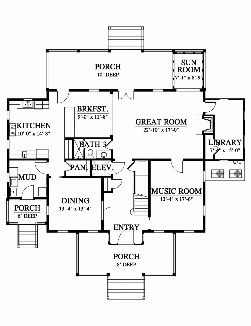 One Story House Plans 2000 Sq Ft Beautiful 2000 Sq Ft House Plans Wrap Around Porch – Porch Ideas