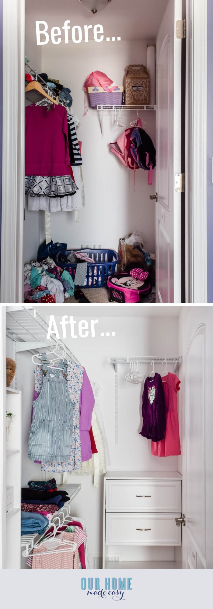 Small Bedroom Closet Makeover