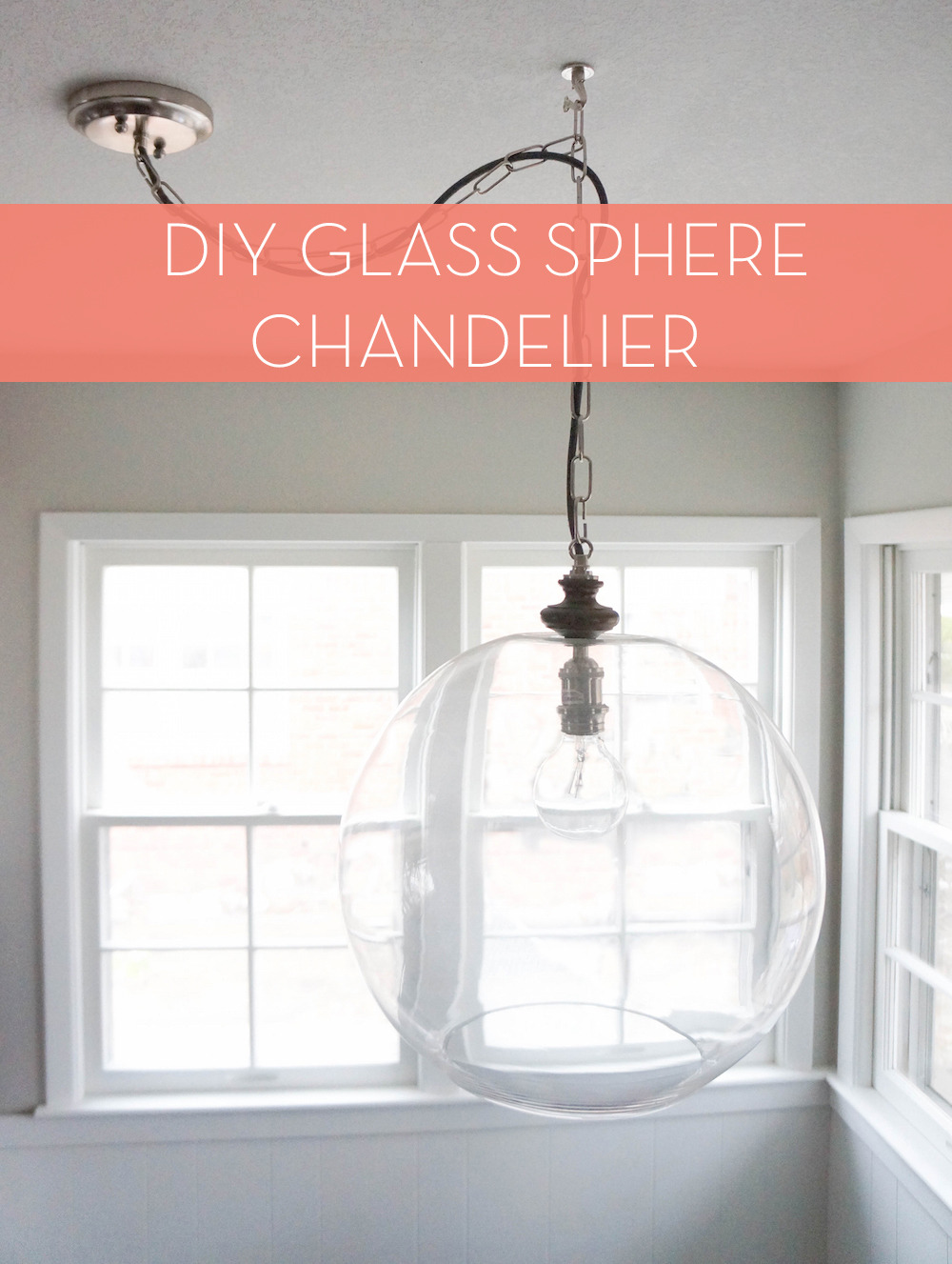 Glass Bowl Light Fixture After 4 with Title