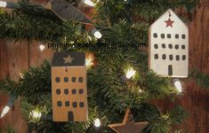 Primitive Saltbox House Pictures Awesome New 8 Primitive Saltbox House Village Barn Wood Stars Black Crow Ornaments Ornies Tuck