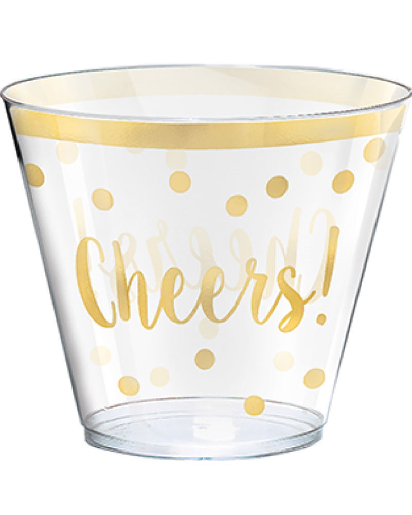 Printed Plastic Pint Glasses Unique New Years Plastic Printed Plastic 266ml Tumblers Pack Of 30
