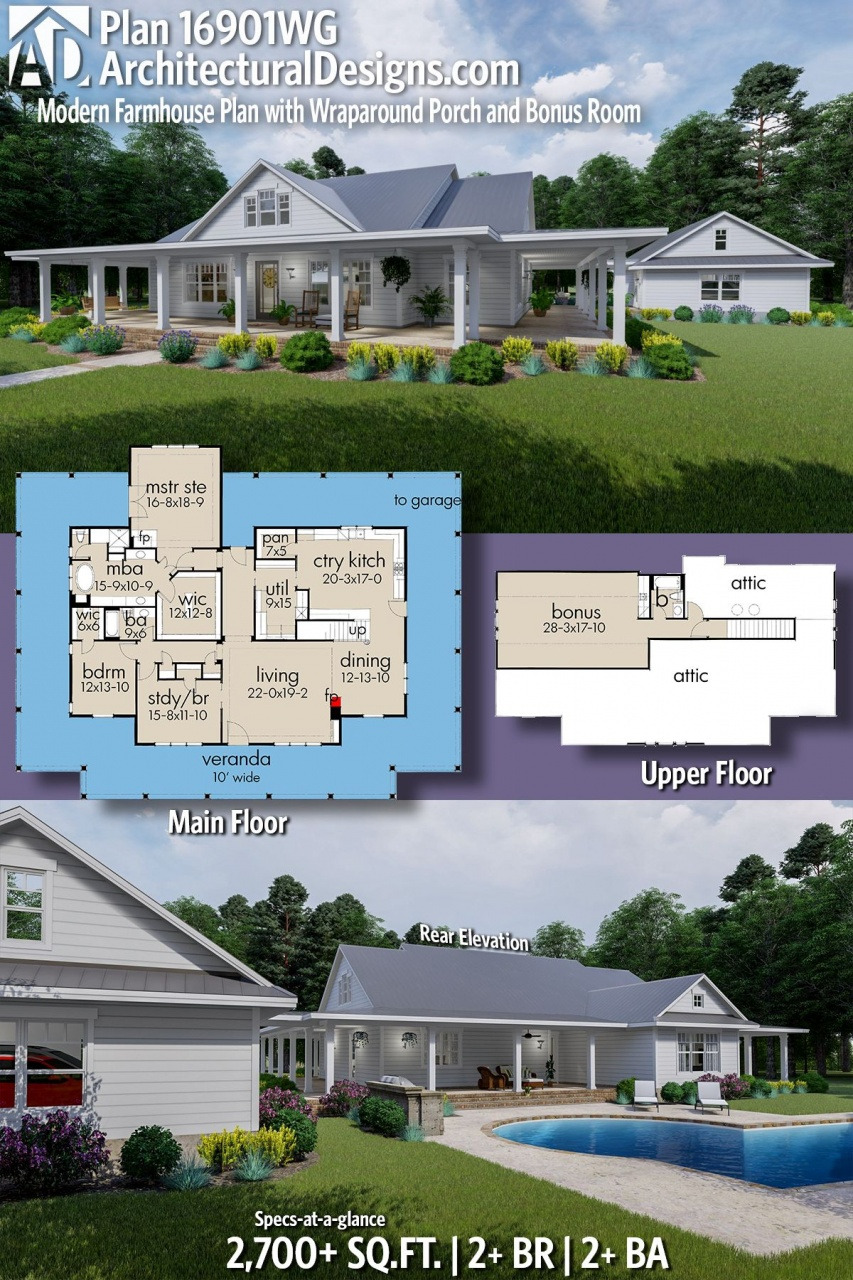 ranch house plans with front porch plan wg modern farmhouse plan with wraparound porch from ranch house plans with front porch