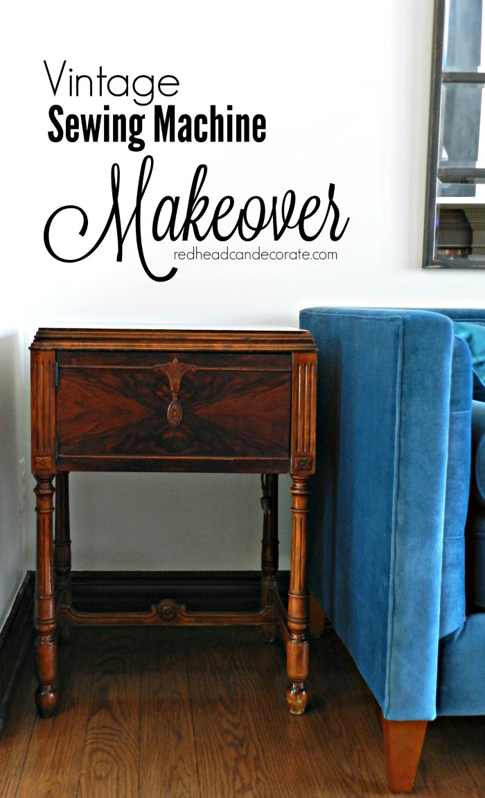 Restoring Antique Wood Furniture Luxury Vintage Sewing Machine Table Makeover without Refinishing