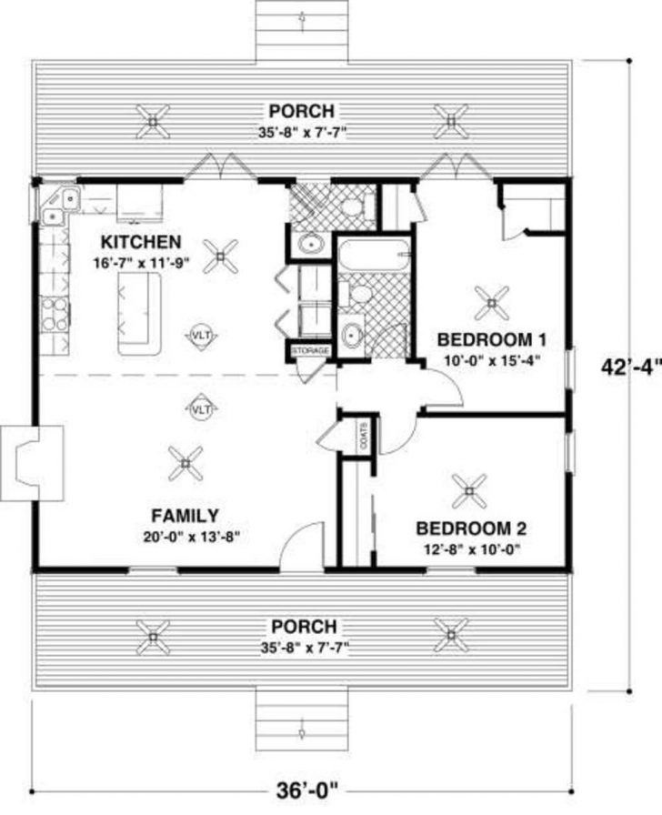 Simple One Room House Plans 2020
