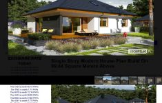 Single Story Modern House Designs Awesome Single Story Modern House Plan Build On 99 44 Square Meters