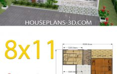 Small House Plans With 3 Bedrooms Inspirational House Design 8x11 With 3 Bedrooms Full Plans House Plans