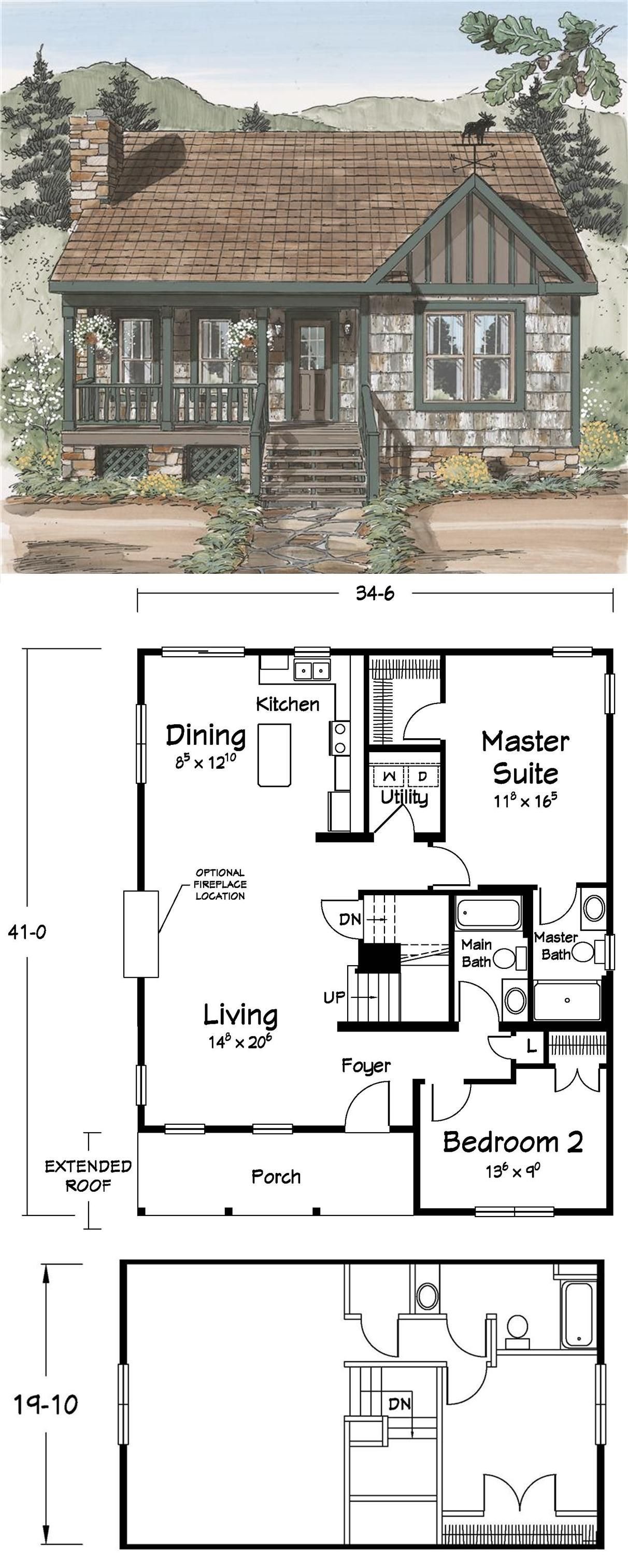 Small House Plans with Basements Beautiful Cabin or Small House