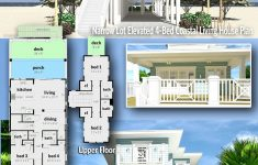 Small Lot Beach House Plans Fresh Plan Td Narrow Lot Elevated 4 Bed Coastal Living House