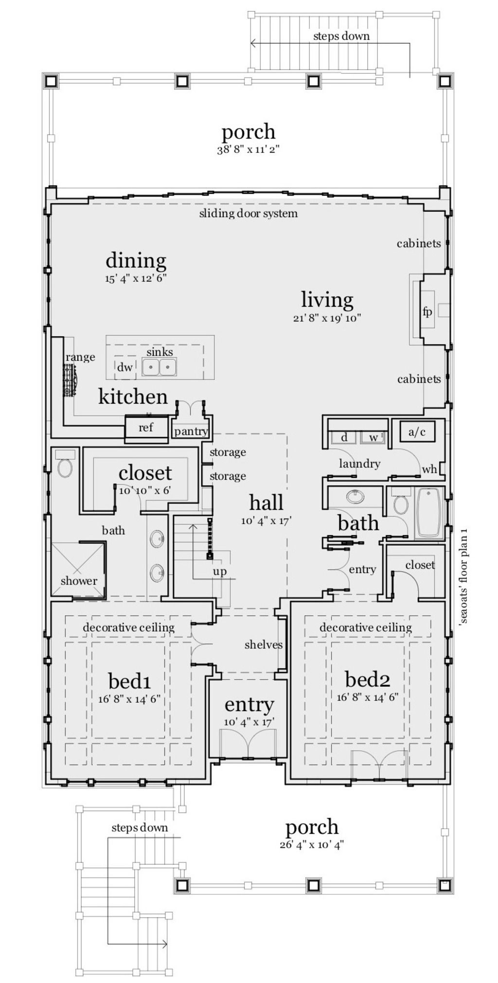 Small Lot Beach House Plans Lovely House Plan 028 Narrow Lot Plan 2 621 Square Feet 3