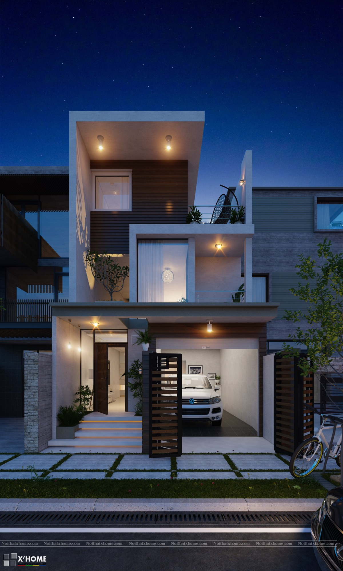 Contemporary thin house design