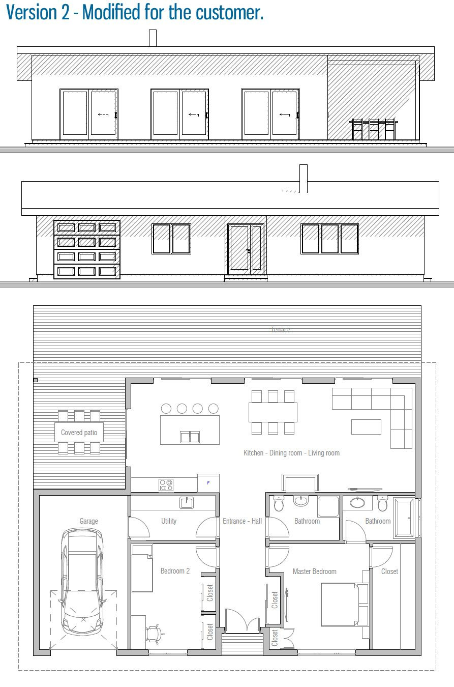 Small solar House Plans Luxury House Design Home Plan Ch432 41 Cabinets