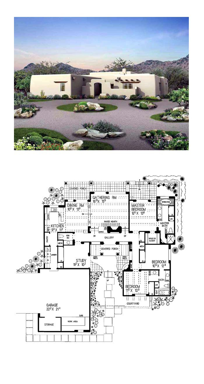 Small southwestern House Plans 2020