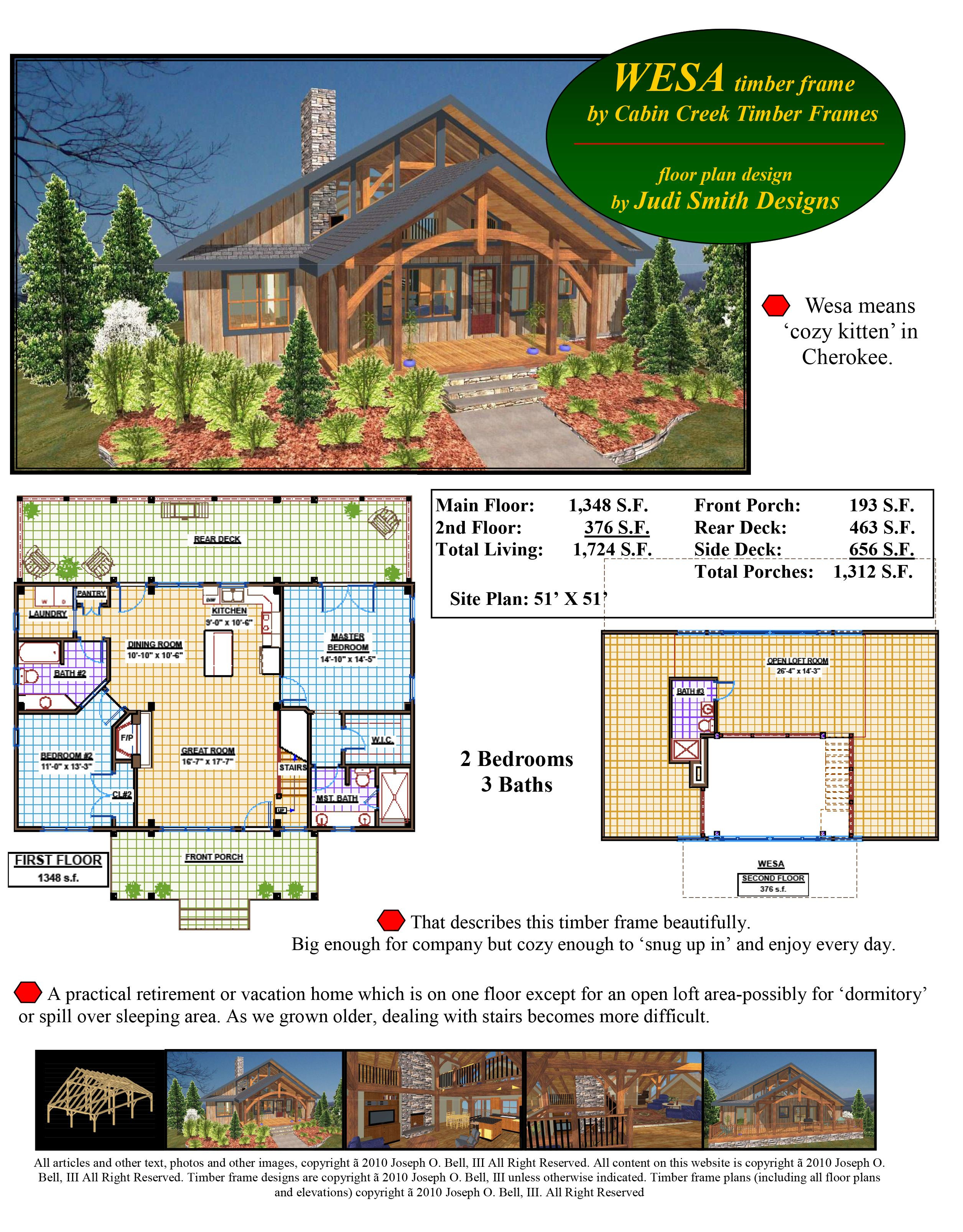 Cabin Creek Timber Frames Wesa for the brochure book 1