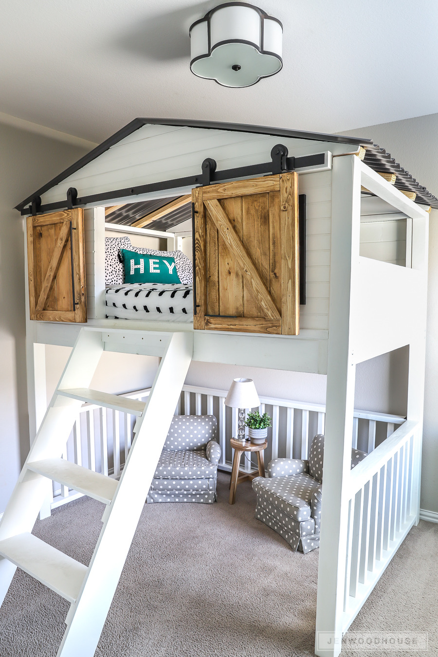 Tree House Bunk Bed Plans Lovely How to Build A Diy Sliding Barn Door Loft Bed Full Size