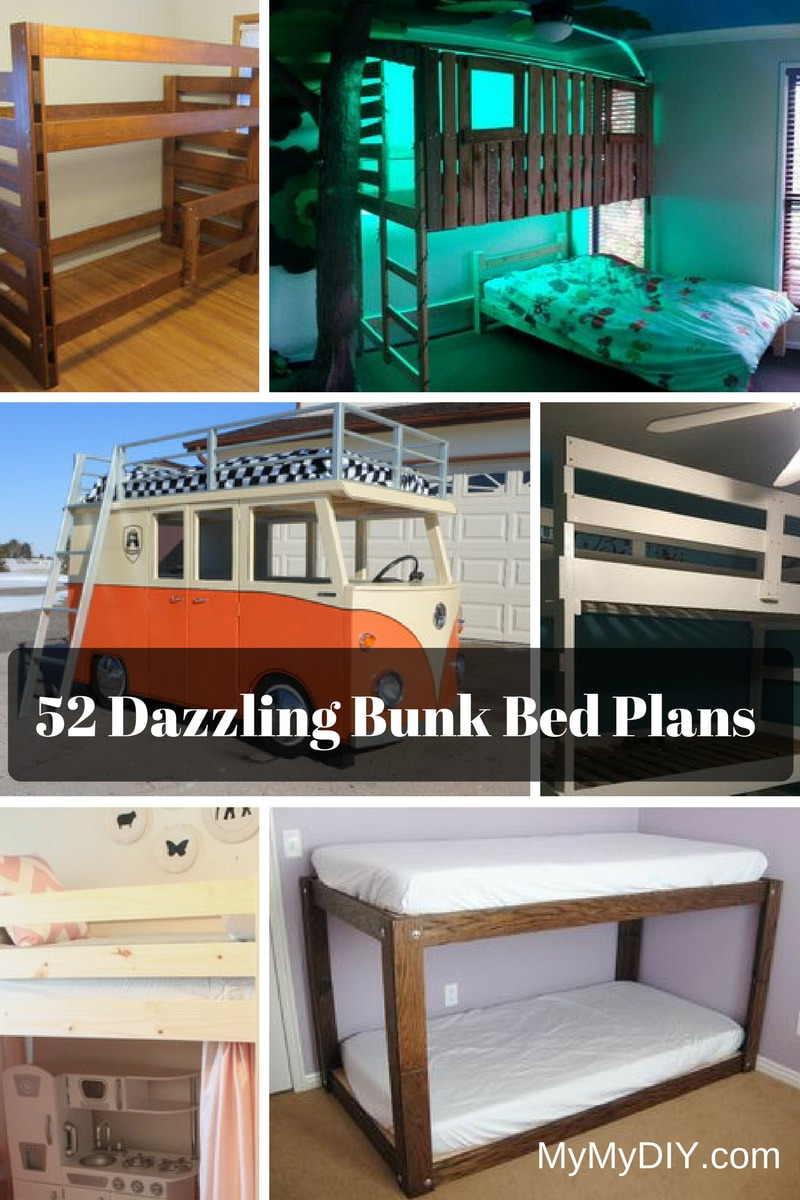 Tree House Bunk Bed Plans Unique 52 [awesome] Diy Bunk Bed Plans Mymydiy