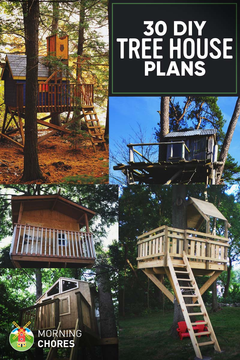30 Free DIY Treehouse Plans for Adults and Kids