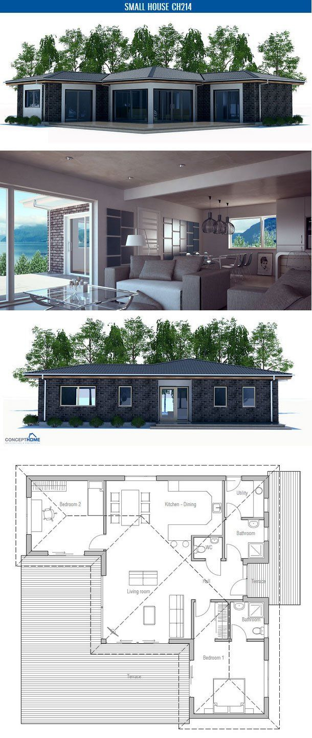 Two Bedroom Home Design Best Of Small House Plan with Two Bedrooms and Spacious Living Room