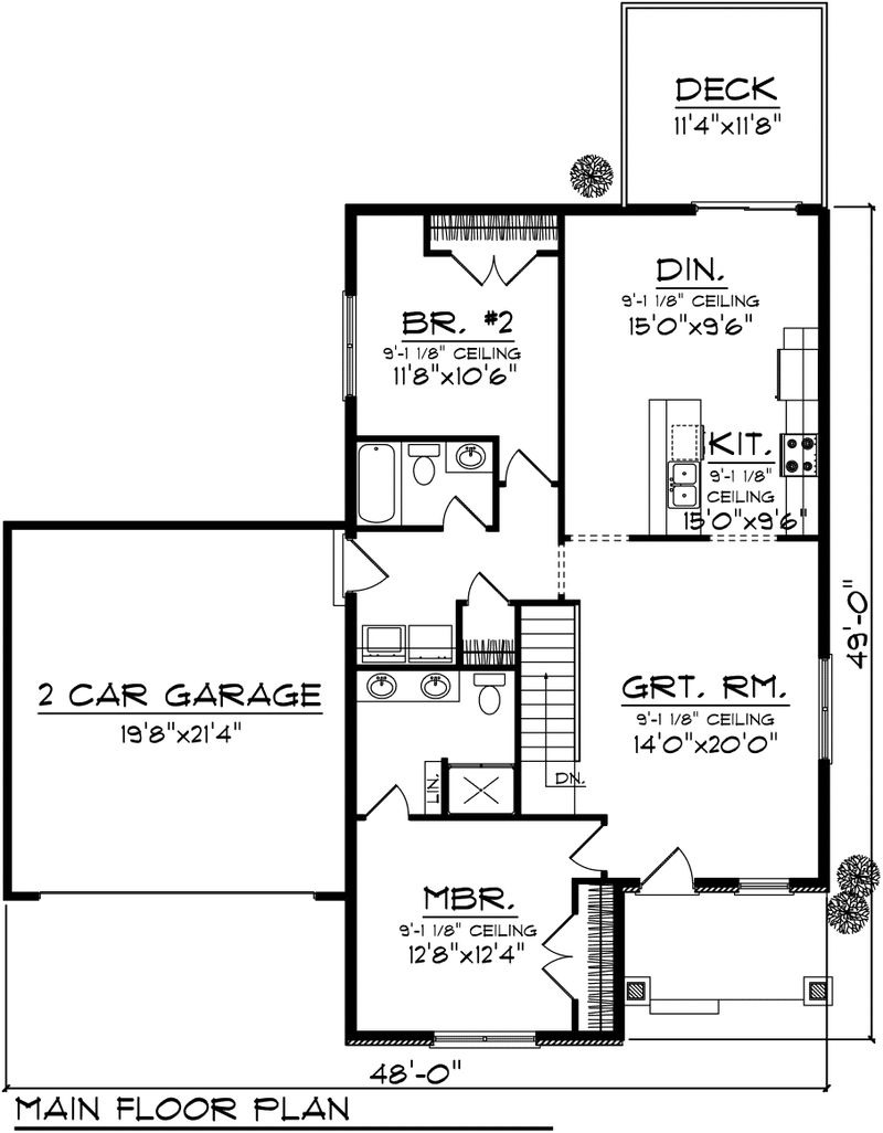 stylish 2 bedroom house plan with garage lotus contempo mesmerizing