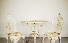Vintage And Antique Furniture Lovely Vintage Antique Outdoor Garden Furniture Cast Metal Table & 2 Chairs