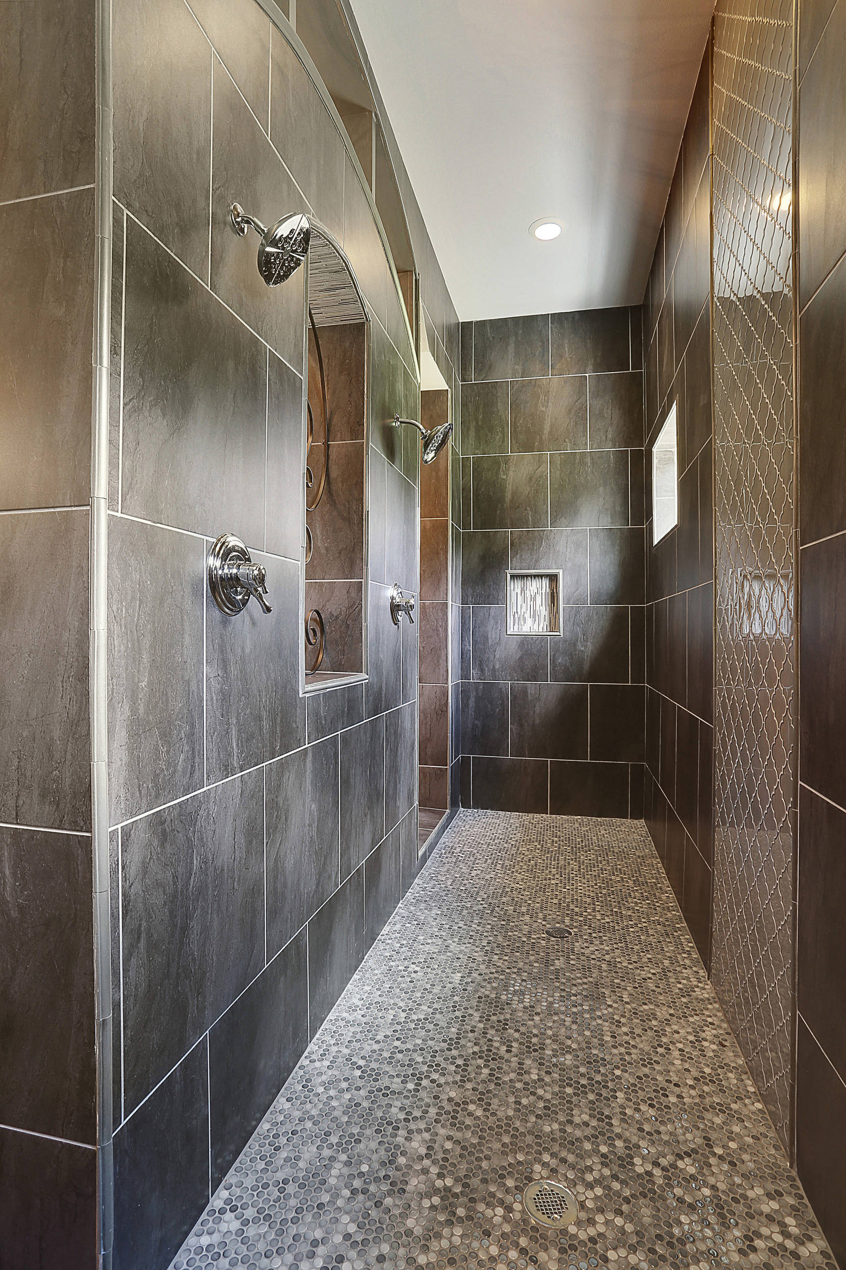 walk thru shower bathroom ideas and photos phbr0lbl bl l