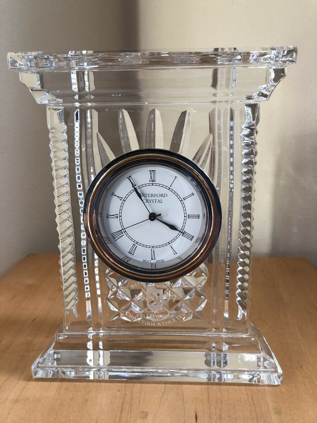 """Waterford Crystal Clocks for Sale Beautiful Waterford Clear Crystal 7"""" atrium Clock — Very Nice"""