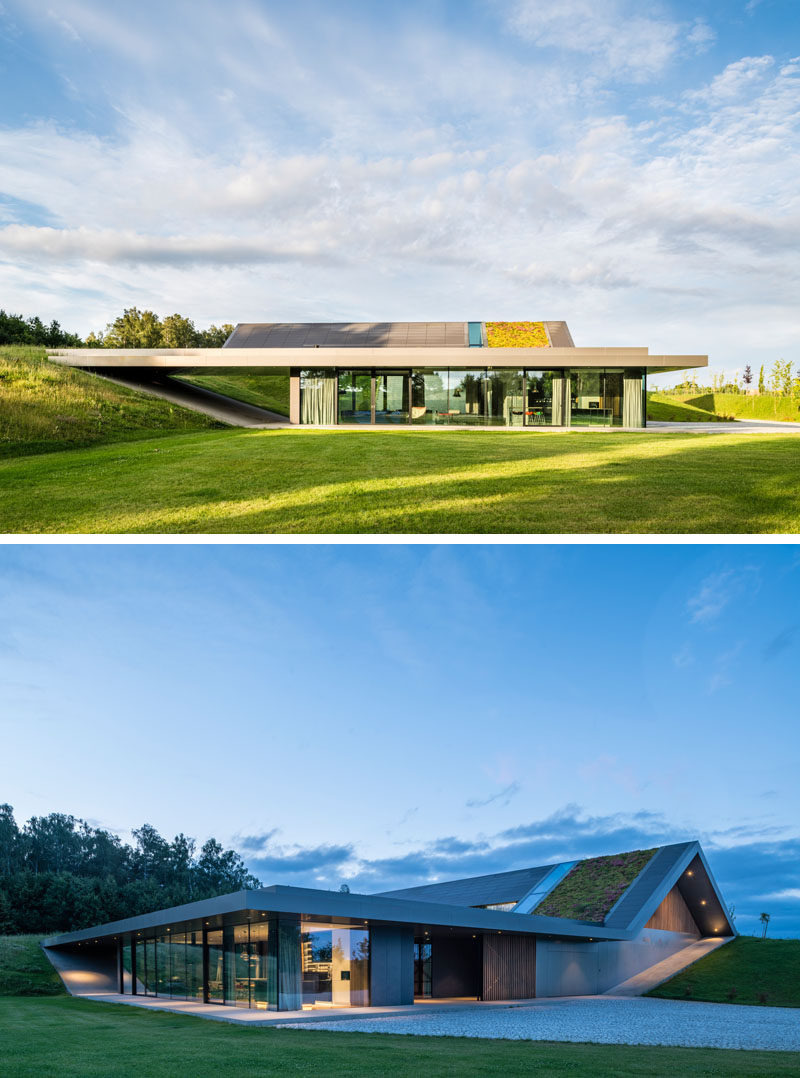 Who Built that Modern Houses New This House Was Built Into A Polish Hillside