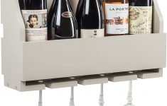 Wine Glass Racks Hanging Australia Unique Occo Wall Mount Wine Bottle & Glass Rack In French Grey 46cm 18in