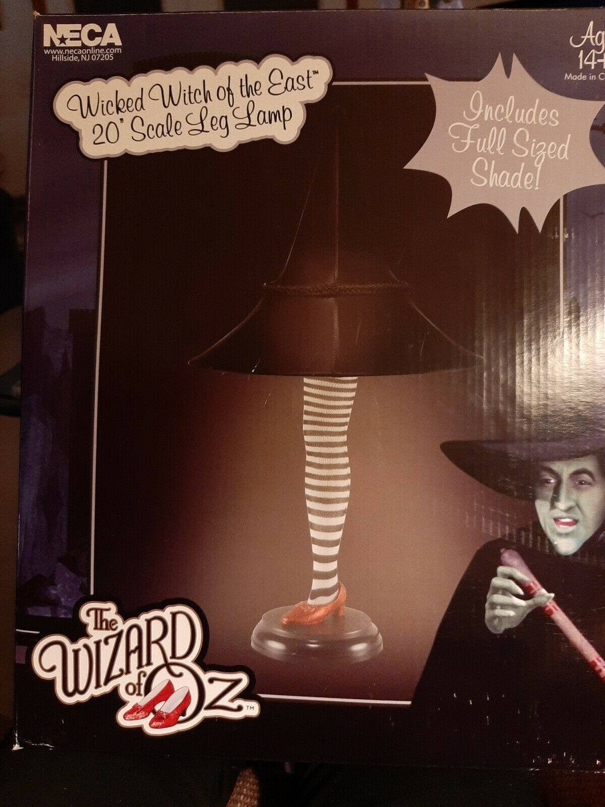 """Witch Leg Lamp Unique Neca Wizard Of Oz Wicked Witch Of the East 20""""scale Leg Lamp Brand New"""