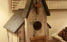 Wooden Bird House Plans New Rustic Church Birdhouse Made Of Pallet Wood And Scraps