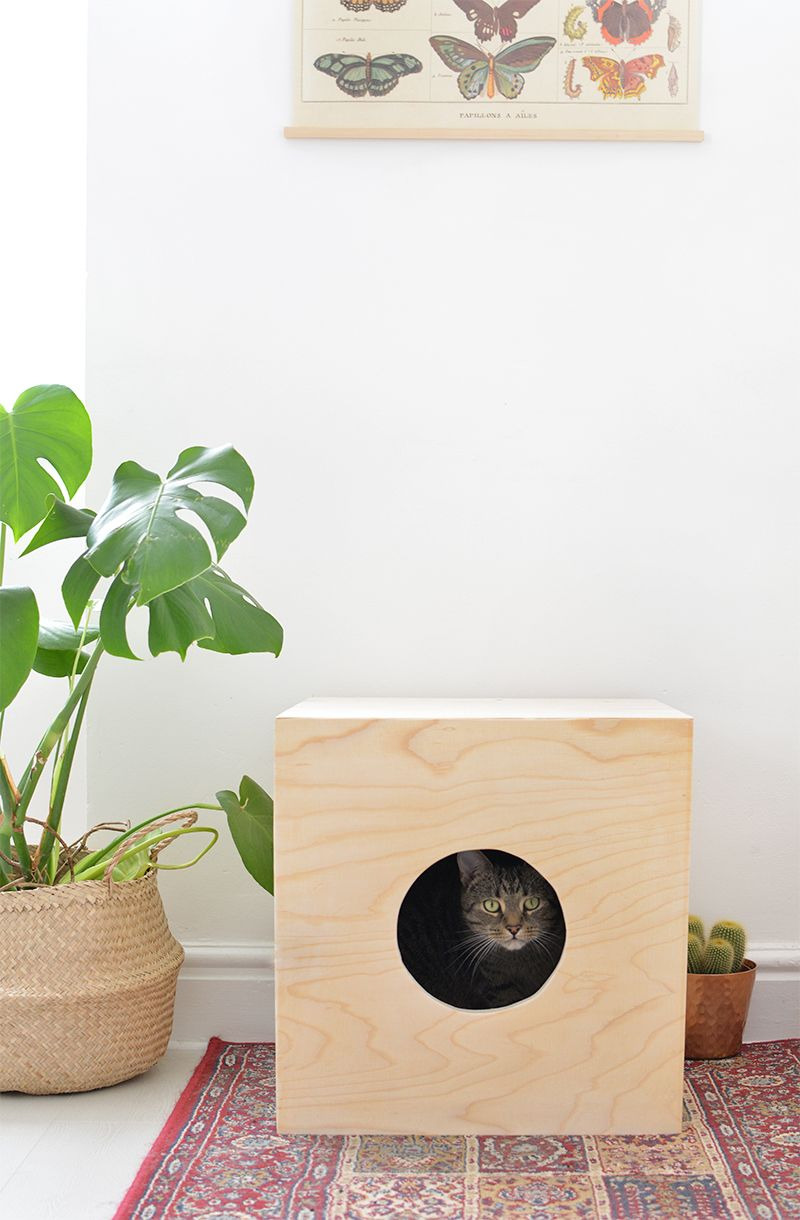 Wooden Cat House Plans Awesome Diy Cat House Crafts and Projects