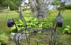 Wrought Iron Garden Furniture Antique New Vintage Wrought Iron Peacock Chair