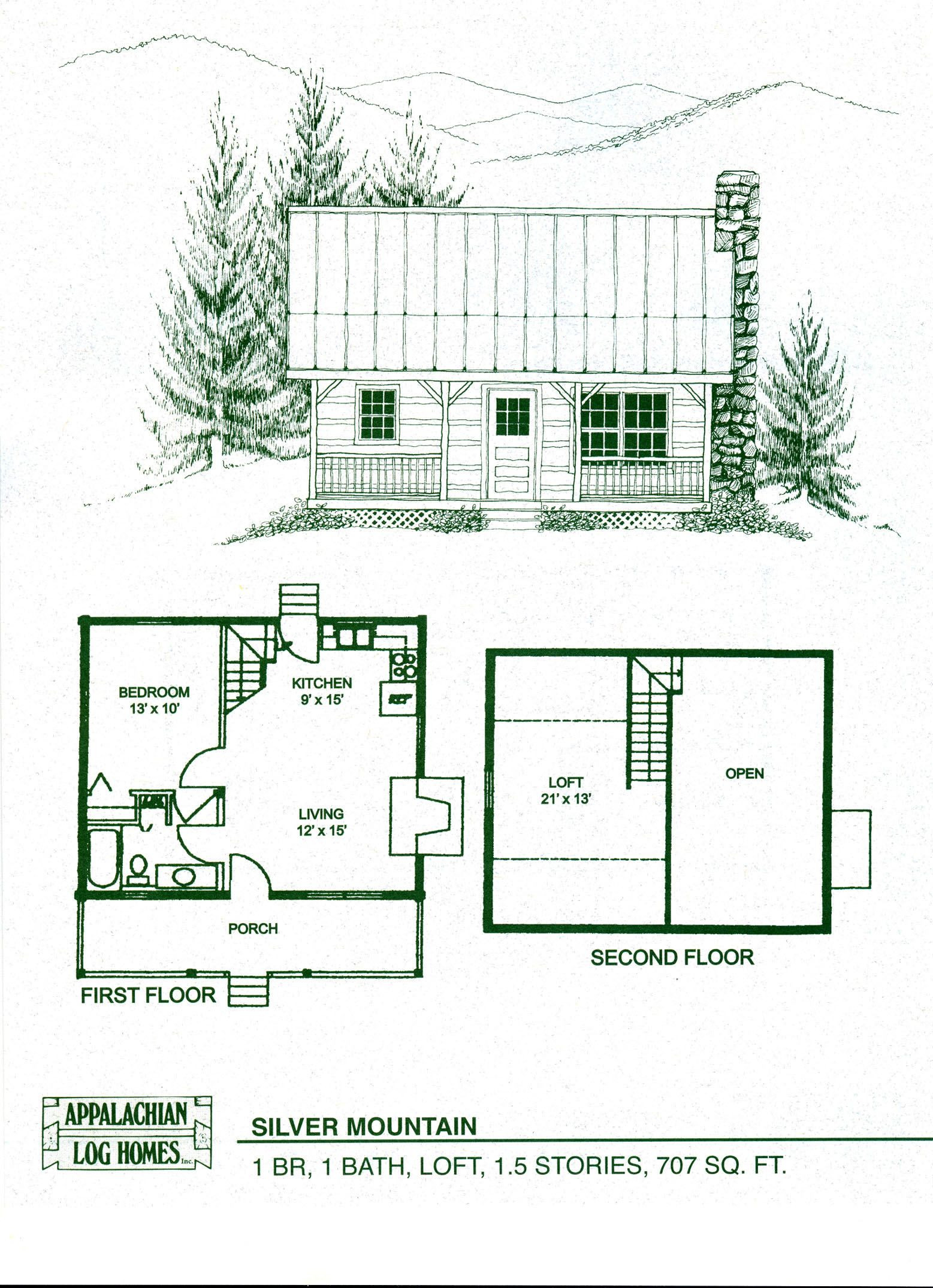 1 Bedroom House Plans with Loft Awesome Small Cabin with Loft Floorplans