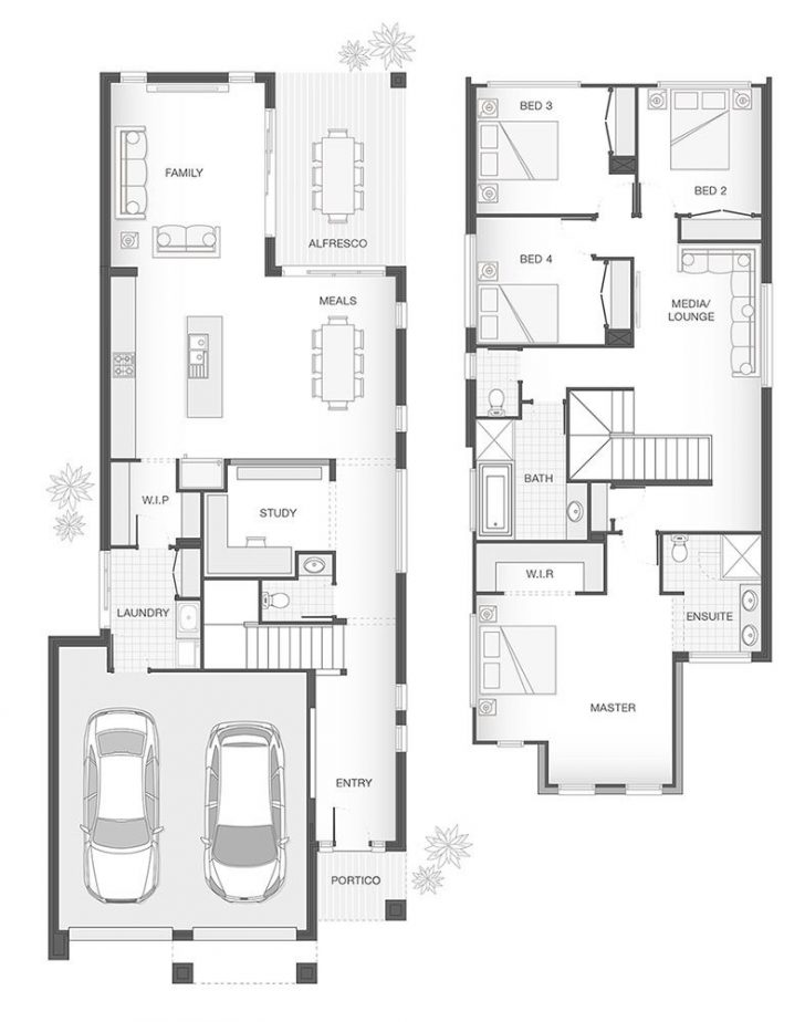 4 Bedroom Duplex Floor Plans 2020