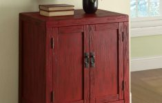 Accent Cabinets With Doors Unique Rustic Red Accent Cabinet With 2 Doors