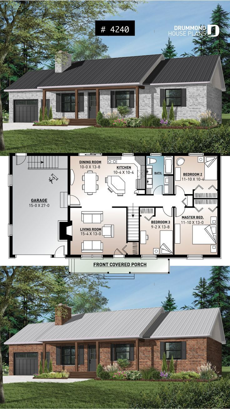 Affordable Ranch House Plans Inspirational Affordable 3 Bedroom Bungalow House Plan with Kitchen island