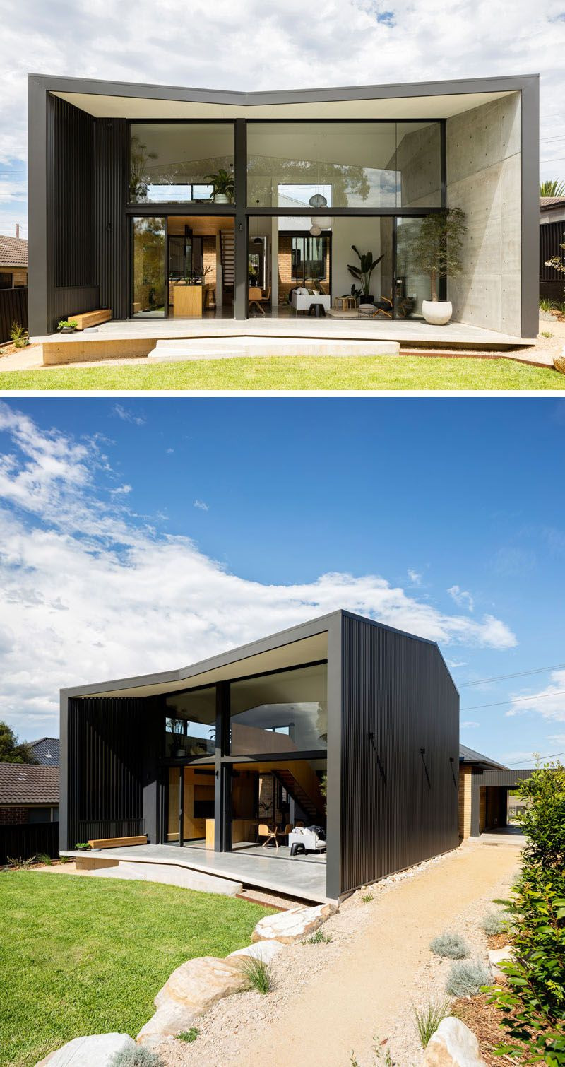 Modern prefab black house design