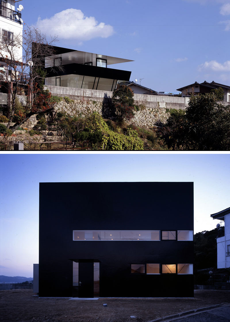 modern black house exterior angular 1151 03