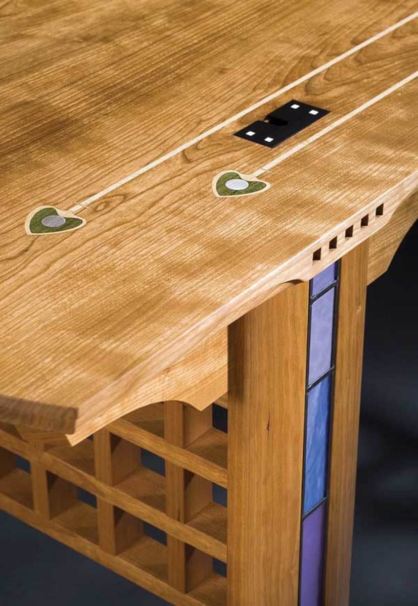2 kevinrodel deskdetail of the cherry glasgow desk by kevin rodel who sometimes channels scots designer cr mackintosh
