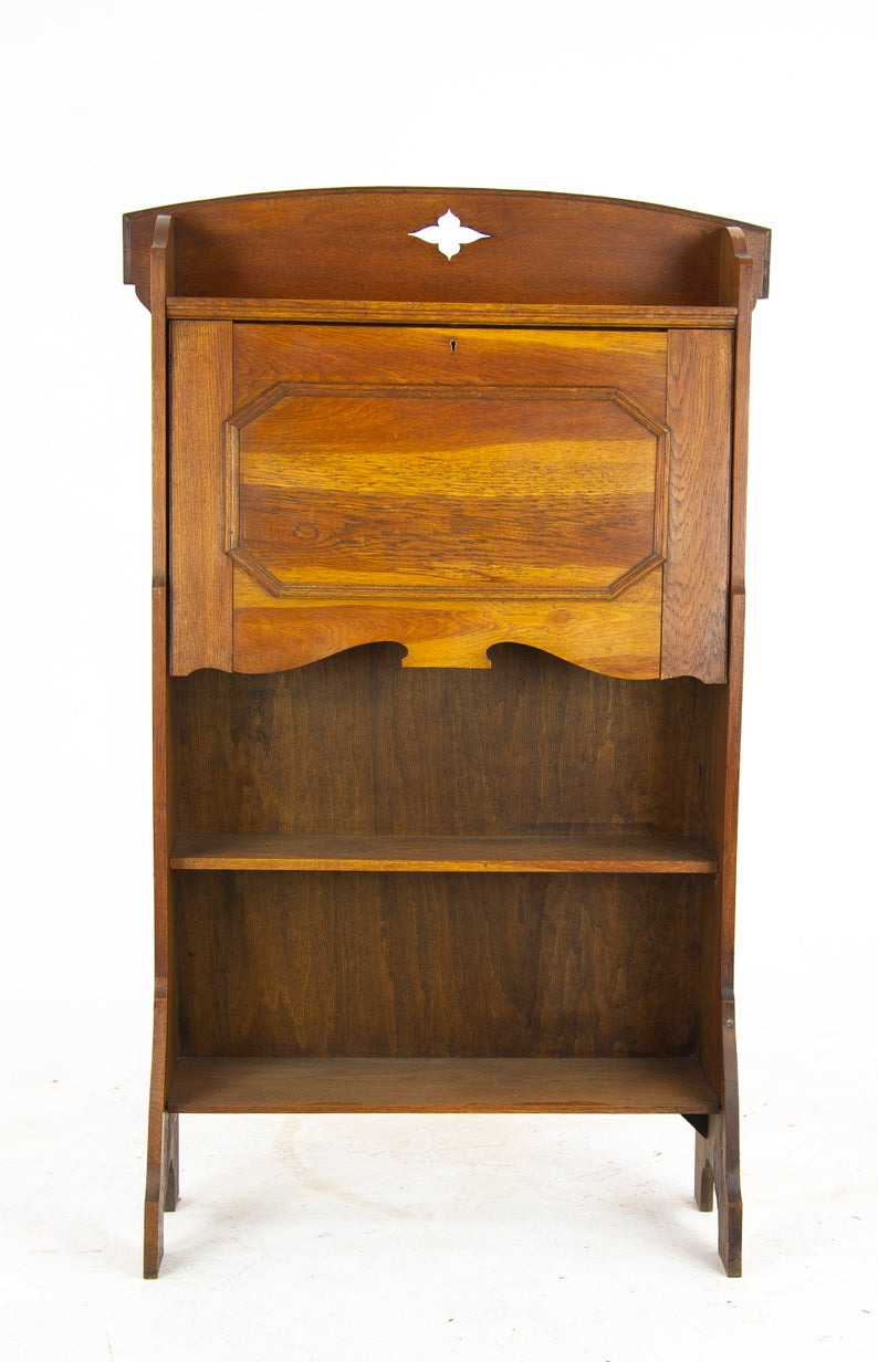 Antique Arts and Crafts Furniture Lovely Antique Oak Bookcase Arts and Crafts Bookcase Glasgow Scotland 1910 Antique Furniture B1201