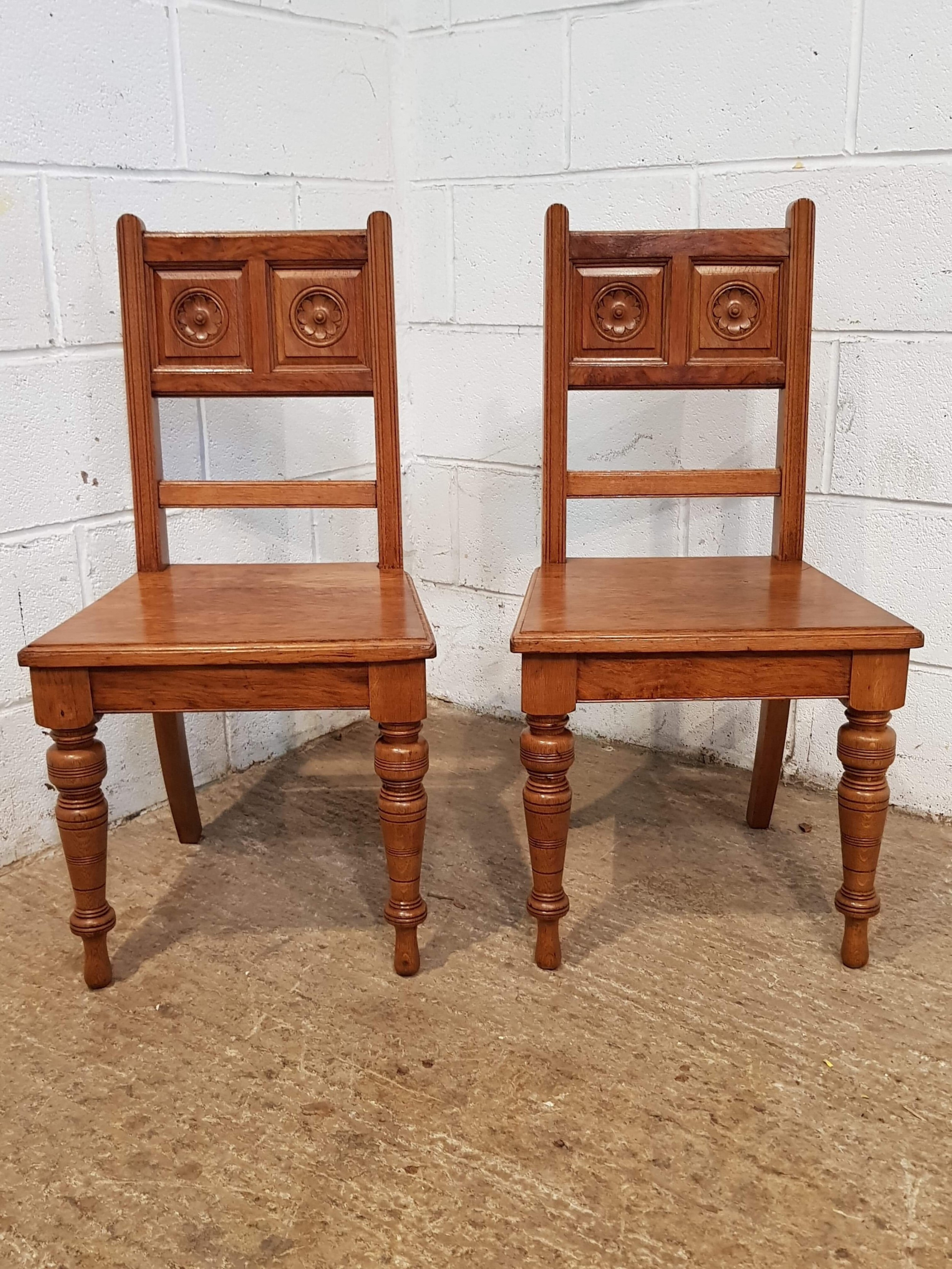 Antique Arts and Crafts Furniture Luxury Antique Pair Golden Oak Arts & Crafts Hall Chairs C1900