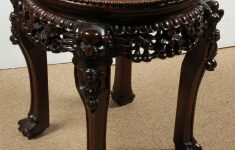 Antique Chinese Rosewood Furniture Unique Antique Chinese Marble Top Carved Rosewood Plant Stand