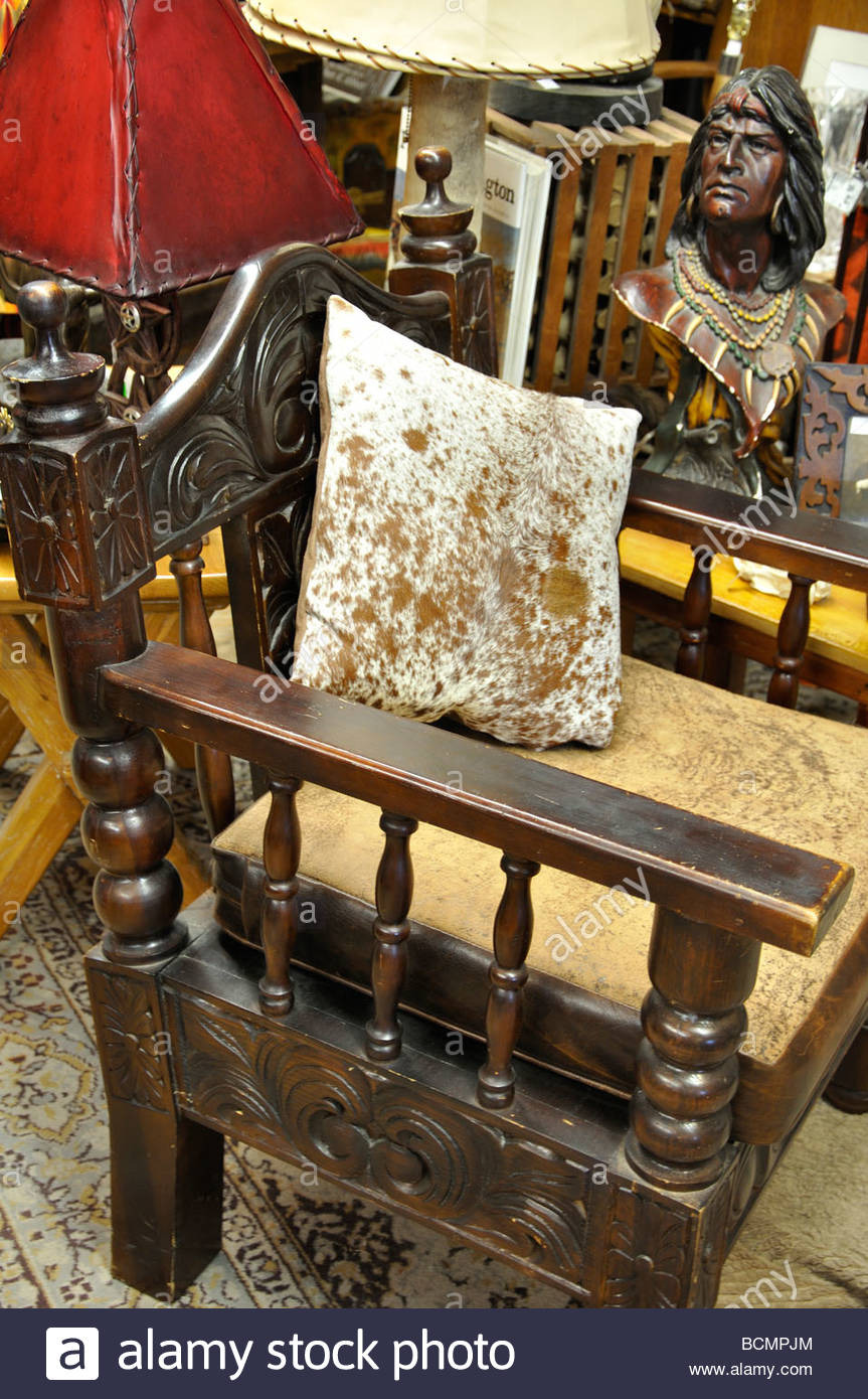 old chair in antiques store in fort worth texas BCMPJM
