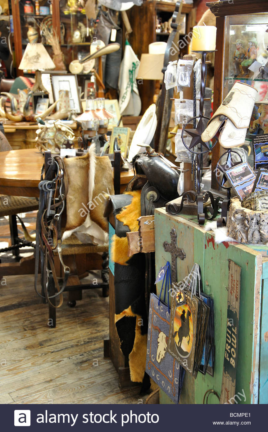 antiques store interior in fort worth texas usa BCMPE1