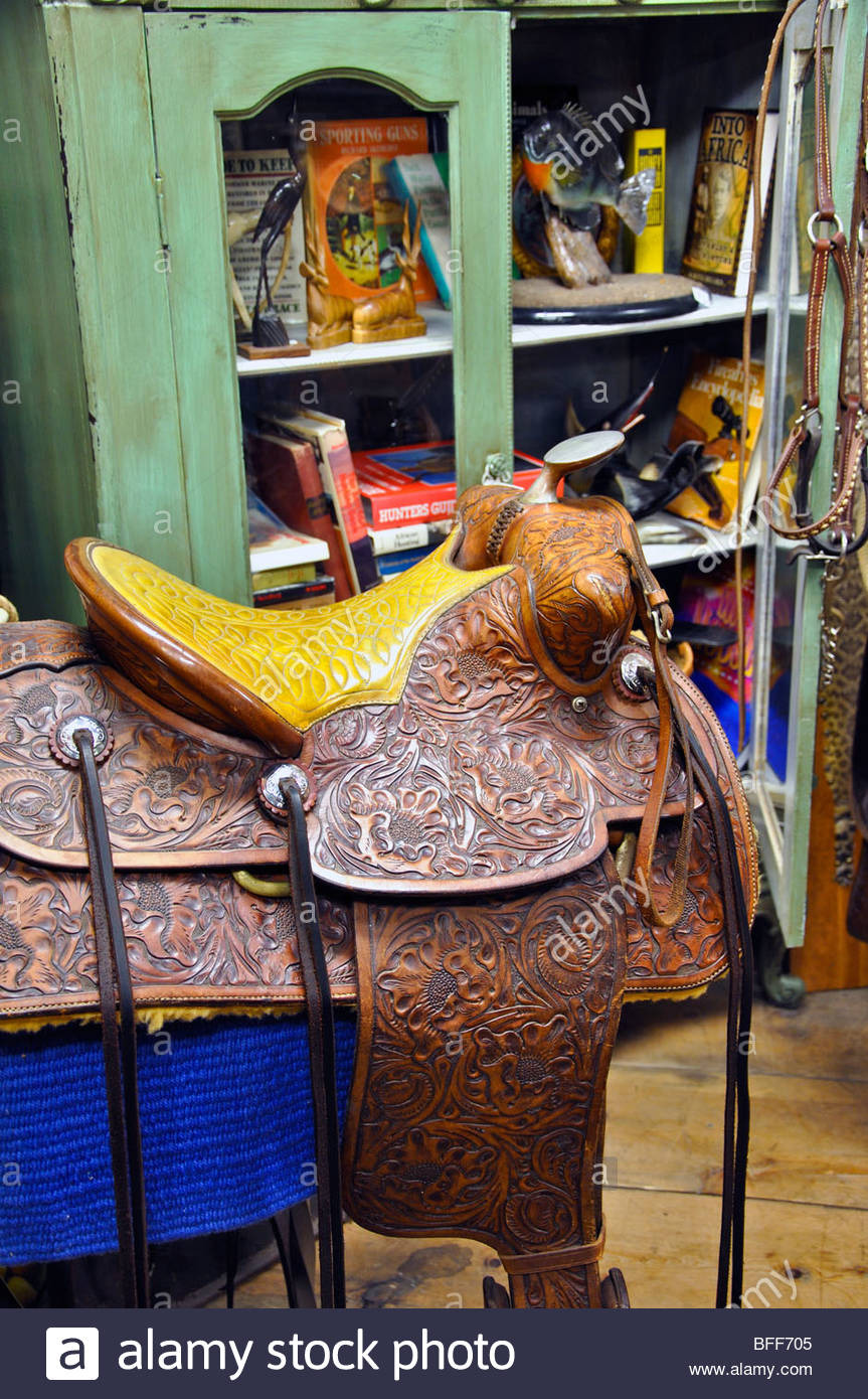 Antique Furniture fort Worth Lovely Vintage Saddle In Antiques Store In fort Worth Texas Stock