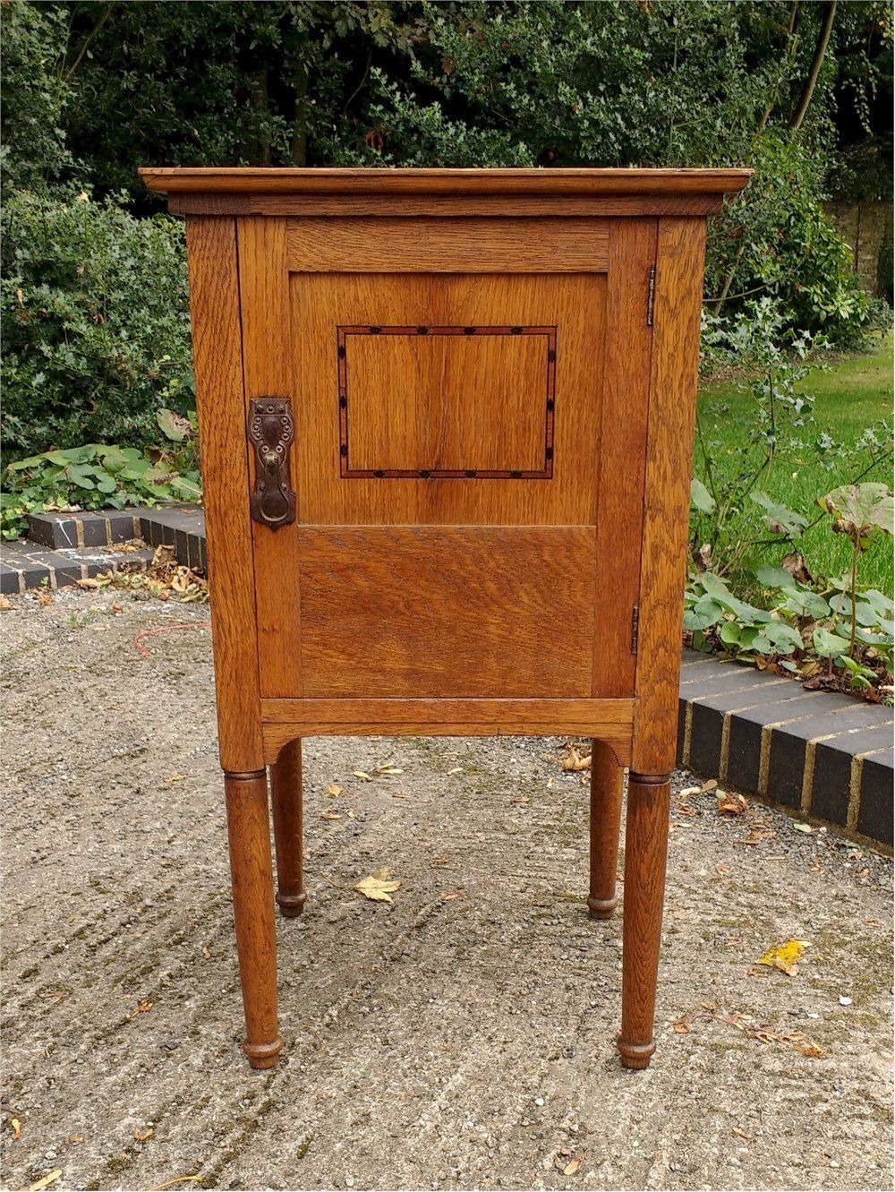 Antique Furniture Makers Directory Inspirational Arts and Crafts Inlaid Bedside Cabinet In Golden Oak