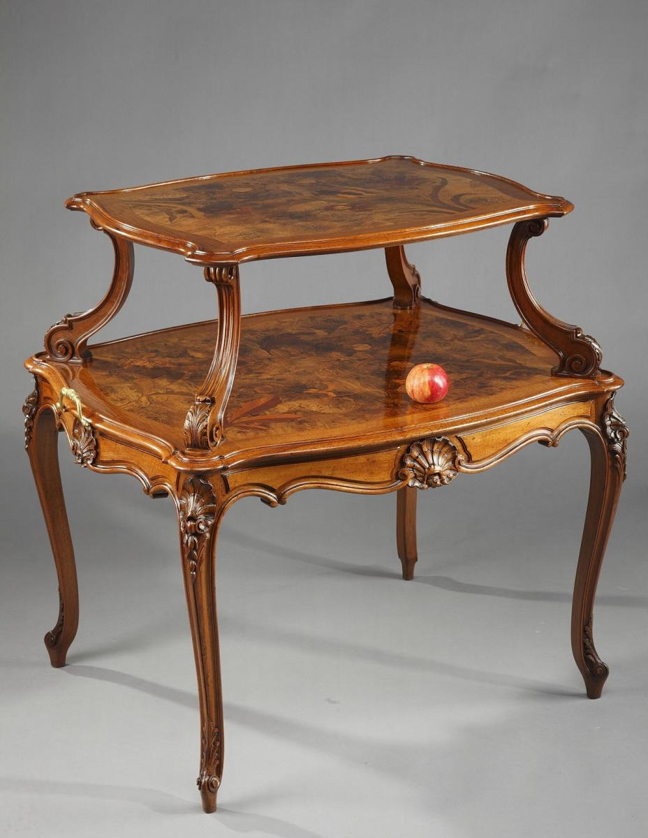 Antique Inlaid Wood Furniture Best Of Art Nouveau Wood Marquetry Inlaid Antique Table Tables
