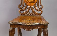 Antique Inlaid Wood Furniture Luxury A Carved And Inlaid Walnut Chair With Musical Work Swiss