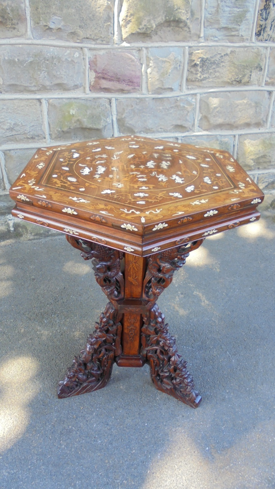 Antique Inlaid Wood Furniture New Unusual Antique oriental Chinese Inlaid Table C 1890 Wom