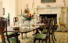 Antique Mahogany Dining Room Furniture Elegant Chandelier Over Antique Mahogany Dining Table And Chairs In