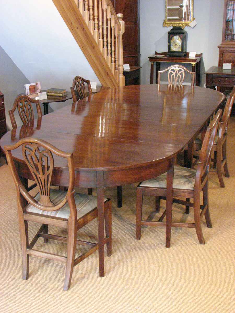 antique mahogany dining table 20 58 refno 2436